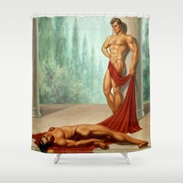 Water Boys Shower Curtain