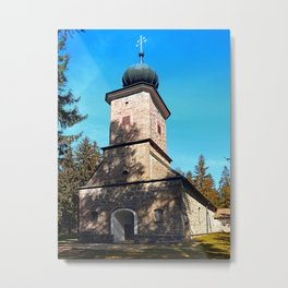 Maria Rast forest chapel | architecture photography Metal Print