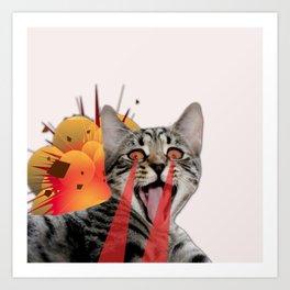 CAT ATTACK! Art Print