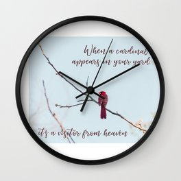 Visitor from Heaven Wall Clock