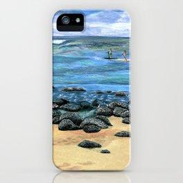 Poipu Beach Landscape iPhone Case