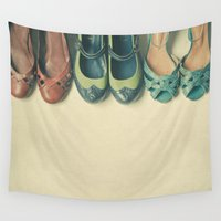 shoe Wall Tapestries featuring The Shoe Collection by Cassia Beck