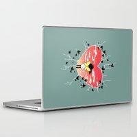 butterflies Laptop & iPad Skins featuring Butterflies by Freeminds