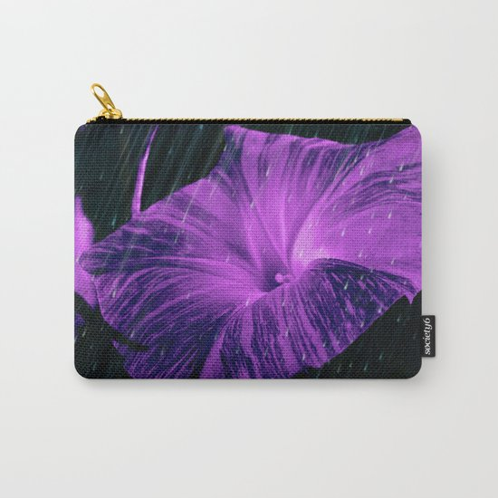 Purple Striped Glory Carry-All Pouch