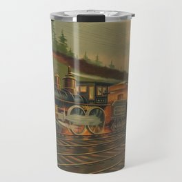 Night Scene on the NY Central Railroad (Currier & Ives) Travel Mug