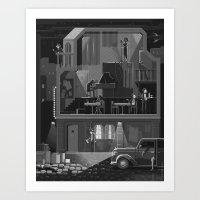 Scene #11: ' The night club' Art Print