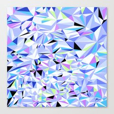 Periwinkle Polygons Canvas Print
