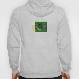 Old Vintage Acoustic Guitar with Pakistani Flag Hoody