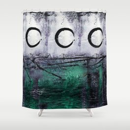 Enso No, mm12 Shower Curtain