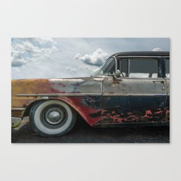 Flaming Oldsmobile Canvas Print