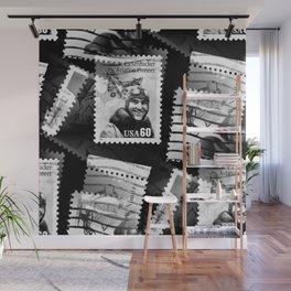 Nostalgic Stamps In Black And White #decor #society6 #homedecor Wall Mural