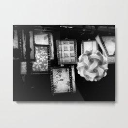 Grey Lanterns Metal Print