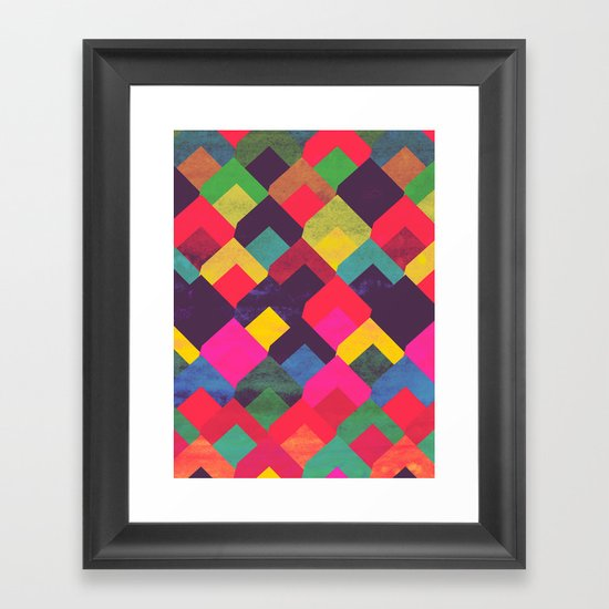 colour + pattern 11 Framed Art Print