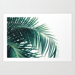 Palm Leaves Green Vibes #6 #tropical #decor #art #society6 Art Print