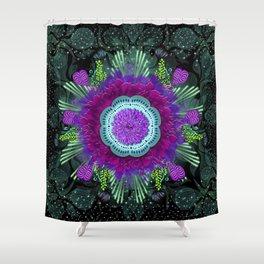 Space Magic Blue Shower Curtain