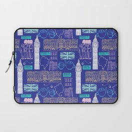 Queen and Country - Blue Laptop Sleeve