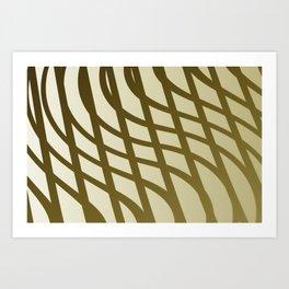 Sepia swing lines Art Print