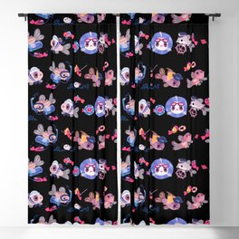 Cory cats on voyage Blackout Curtain