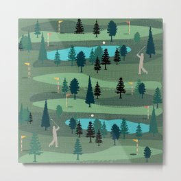 Golf Day Out Metal Print