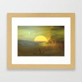 Landscape hike Framed Art Print