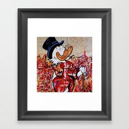 Dagobert for President (make Duckburg great again) Framed Art Print