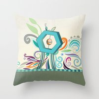 polygon Throw Pillows featuring Polygon monument by /CAM