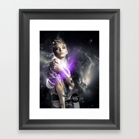 Milky Framed Art Print