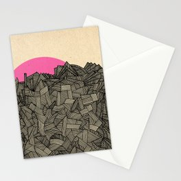 - obscure the pink shade of the sun - Stationery Cards