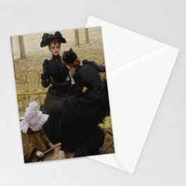 Vittorio Matteo Corcos - Conversation in the Jardin du Luxembourg Stationery Cards