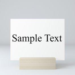Sample Text Mini Art Print