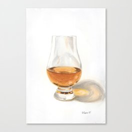 Glencairn Bourbon Glass Canvas Print