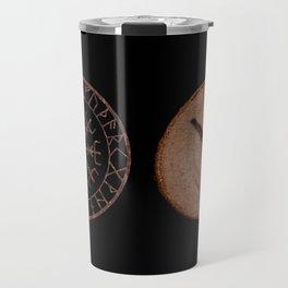 Algiz Elder Futhark Rune divinity, higher self, the state of listening, Valkyrie Travel Mug