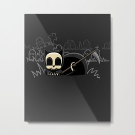 Grim Reapets - A Cat Named Coffin - Halloween Kitty Metal Print