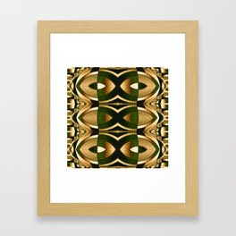 Stained Glass Collection II Camouflaged Framed Art Print