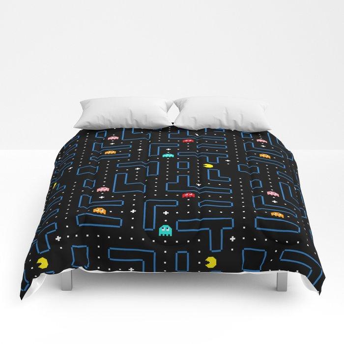 Pac-Man Retro Arcade Gaming Design Comforters