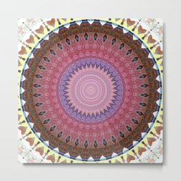 Recreational Maylanta Mandala 5 Metal Print