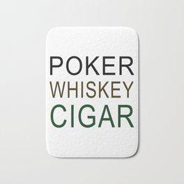 Poker Whiskey Cigar Bath Mat