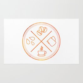 Four Elements of Cappuccino Pictogram Rug