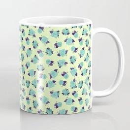 Simple Linework Roses - Teal and Purple Coffee Mug