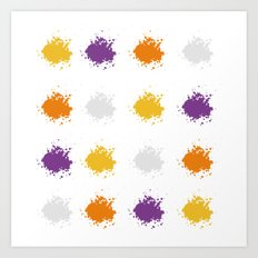 Colorful Mistakes Art Print