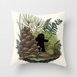 Tiny Sasquatch Throw Pillow