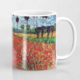 Field Of Poppies Vincent Van Gogh Painting Coffee Mug