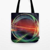 stargate Tote Bags featuring The Gate Abstract by minx267