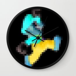 Super Mario Pixel Poster Wall Clock