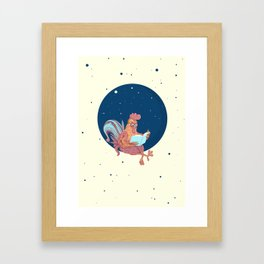 space chicken Framed Art Print