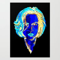 dana scully Art Prints featuring Dana Scully by Sam Del Valle