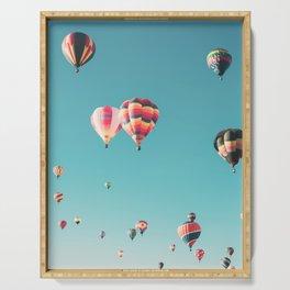 Hot Air Balloon Ride Serving Tray
