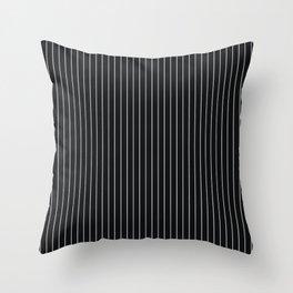Black Linen Sterling Luna Song Pinstripe Throw Pillow