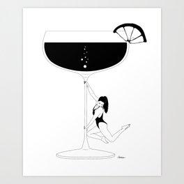 Cocktail dance Art Print