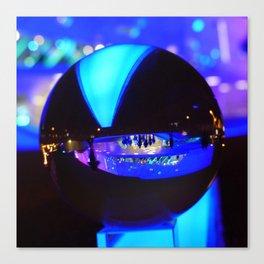 Through the crystal ball / Glass Ball Photography Canvas Print